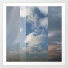 Northern Sky Fragments 3 Art Print
