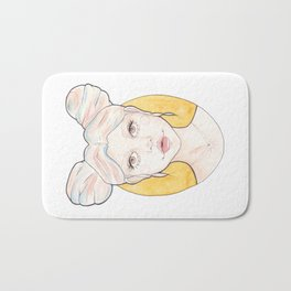 Clio, a Girl with Pink and Blue Streaked Blonde Hair Bath Mat