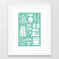 baking Framed Art Prints featuring Baking Graphic by Modart Design