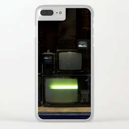 Nostalgia - Cathode Ray Tube Television Clear iPhone Case