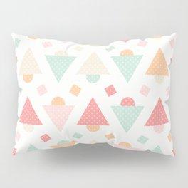 Retro pastel colors geometric shapes ornament Pillow Sham