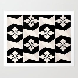 Black White Tiles Art Print