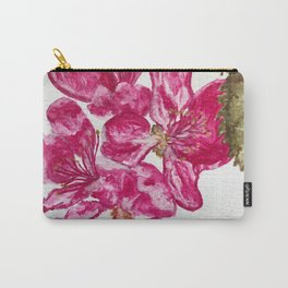 Wild Pink Floral Watercolour Carry-All Pouch