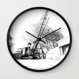 An old crane Wall Clock