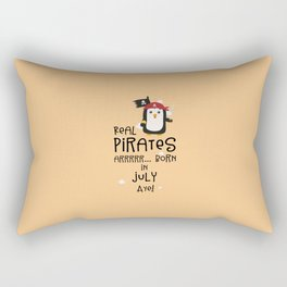 Real Pirates are born in JULY T-Shirt D3dca Rectangular Pillow