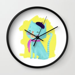 Pierre Cat Wall Clock