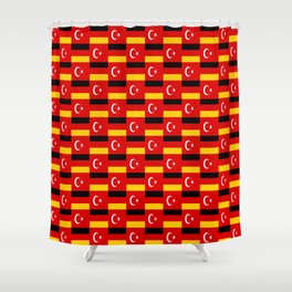 Mix of flag: Germany and turkey Shower Curtain
