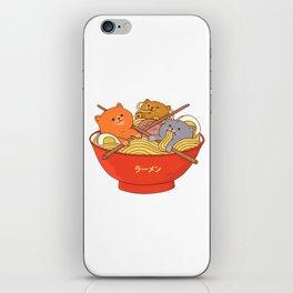 Ramen and cats iPhone Skin