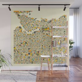 VANCOUVER MAP Wall Mural