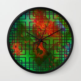 Shambala Matrix by Kenny Rego Wall Clock