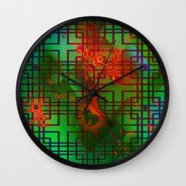 Shambala Matrix by Kenny Rego Wall Clock