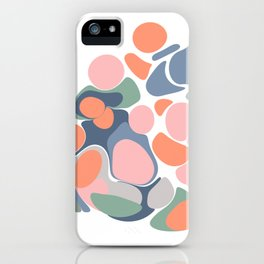 Abstract Shape Flower Art iPhone Case