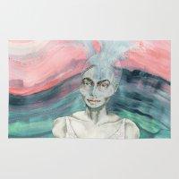 creativity Area & Throw Rugs featuring Creativity by Nina Schulze Illustration