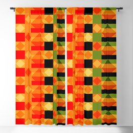 African Style Kente Cloth Blackout Curtain