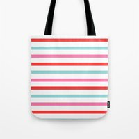stripe Tote Bags featuring Stripe by Andrew Jonathan Baker