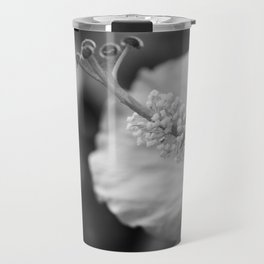 Hybiscus in Black and White Travel Mug