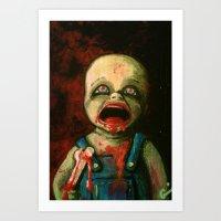 Hungry Baby Art Print
