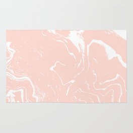 Chiyo - spille dink abstract marble pattern water pisces ocean wave rose gold Rug