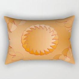 Rounded orange 2 Rectangular Pillow
