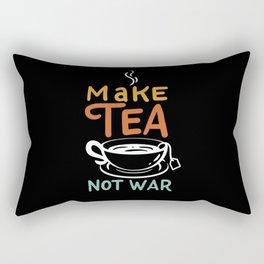 Make Tea Not War / Tea Samurai Motif Rectangular Pillow