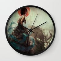 witchcraft Wall Clocks featuring Witchcraft by Camila Vielmond