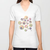 dots V-neck T-shirts featuring Dots by Shelly Bremmer