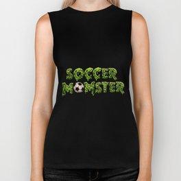 soccer momster bal game teamwork player world cup funny favorite soccer Biker Tank