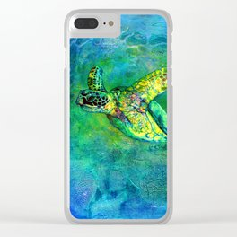 Silent Journey Clear iPhone Case