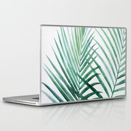 Emerald Palm Fronds Watercolor Laptop & iPad Skin