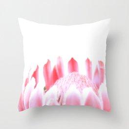 Pink Pink Protea Throw Pillow