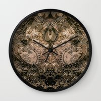 antique Wall Clocks featuring Antique Lace by Klara Acel