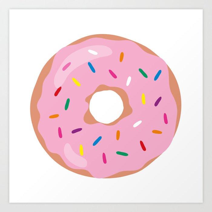 Sprinkled Donut Art Print