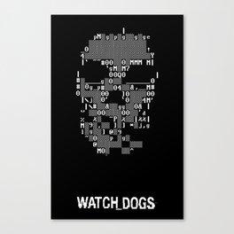 Watchdogs Digital Skull Canvas Print