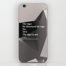 inspirational poem on 3d render iPhone Skin