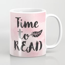 Time to Read - Pink  Coffee Mug