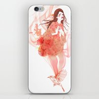flora iPhone & iPod Skins featuring Flora by Anne Cresci