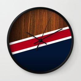 Wooden New England Wall Clock