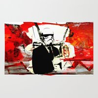 boxing Area & Throw Rugs featuring Boxing Darth by Genco Demirer