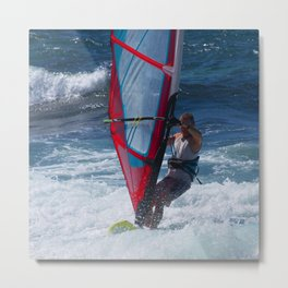 Hawaiian Big Wave Windsurfer Metal Print