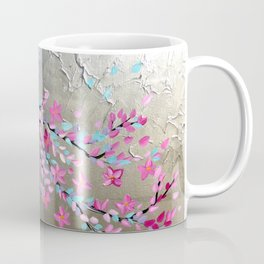 Japanese Cherry Blossom Branch with Pink Blossoms Coffee Mug