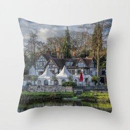 The Boathouse Pub Throw Pillow