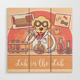 Lab in the Lab Wood Wall Art