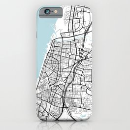 Tel Aviv City Map of Israel - Circle iPhone Case
