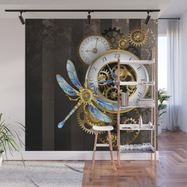 Dials with Dragonfly ( Steampunk ) Wall Mural