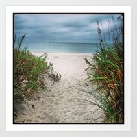 Walk to the beach Art Print