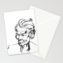 Old women Stationery Cards