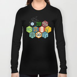 Math in color Black B Long Sleeve T-shirt