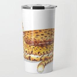 Cheetah Doughnut Travel Mug