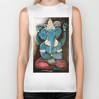ganesh Biker Tanks featuring ganesh by Michael Anthony Alvarez