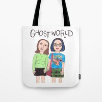 ghost world Tote Bags featuring Ghost World Enid and Rebecca  by Highly Anticipated